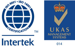 ISO 9001 ISO 14001 Intertek, UKAS Management System - Certificari Technicglass